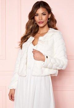 Chiara Forthi Diva short party faux fur Offwhite Bubbleroom.no