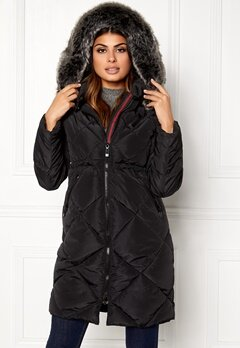 Chiara Forthi Dolomiti quilted jacket Black Bubbleroom.no
