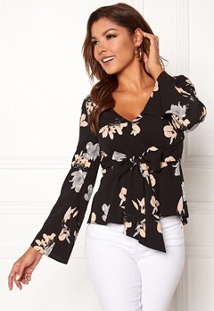 Chiara Forthi Domenica blouse Black / Floral Bubbleroom.no