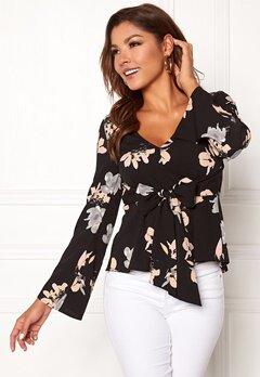 Chiara Forthi Domenica blouse Black / Floral Bubbleroom.no