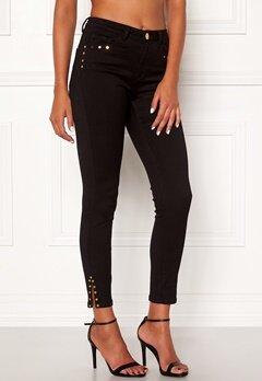 Chiara Forthi Donatella studded slit pants Black Bubbleroom.no