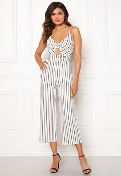 Chiara Forthi Dunia jumpsuit Offwhite / Black Bubbleroom.no