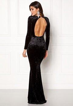 Chiara Forthi Editta Velvet Gown Black Bubbleroom.no