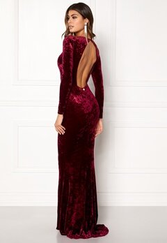 Chiara Forthi Editta Velvet Gown Dark red Bubbleroom.no