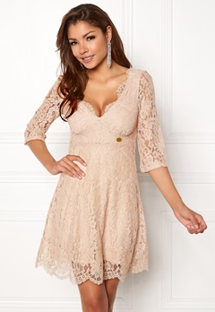 Chiara Forthi Ellix Dress - 2 Beige Bubbleroom.no