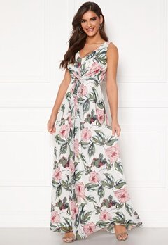 Chiara Forthi Ember Gown White / Pink / Floral Bubbleroom.no