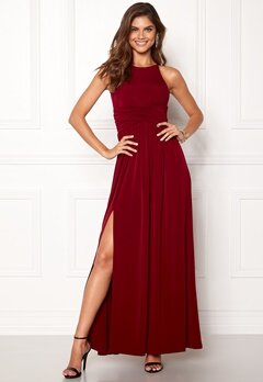 Chiara Forthi Erica Maxi Dress Wine-red Bubbleroom.no