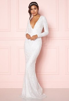 Chiara Forthi Evita embellished dress White Bubbleroom.no