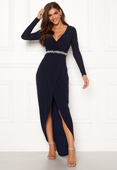 Chiara Forthi Eyra gown Dark navy Bubbleroom.no