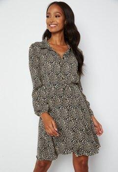 Chiara Forthi Fabiola Puff Sleeve Dress Leopard bubbleroom.no