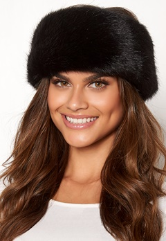 Chiara Forthi Faenza fur head band Black Bubbleroom.no