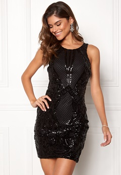 Chiara Forthi Federica sequin dress Black Bubbleroom.no