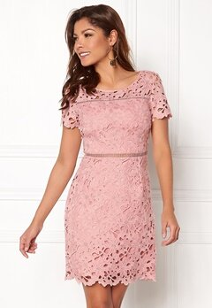 Chiara Forthi Felizia Lace Dress Light pink Bubbleroom.no
