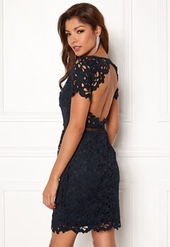 Chiara Forthi Felizia Lace Dress Navy Bubbleroom.no