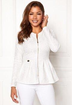 Chiara Forthi Fiona peplum jacket White Bubbleroom.no