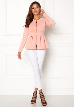 Chiara Forthi Fiorenza Peplum Jacket Light pink Bubbleroom.no