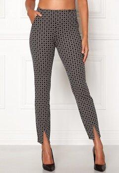 Chiara Forthi Franka jersey sleek pants Beige / Black / Offwhite Bubbleroom.no
