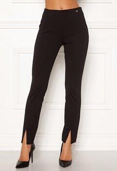 Chiara Forthi Franka jersey sleek pants Black Bubbleroom.no
