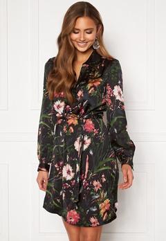 Chiara Forthi Genesis shirt dress Black / Patterned Bubbleroom.no
