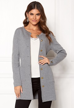 Chiara Forthi Giovanna Coat Grey melange Bubbleroom.no
