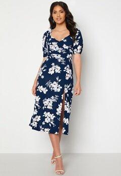 Chiara Forthi Giulia Puff Sleeve Dress Navy / Floral bubbleroom.no
