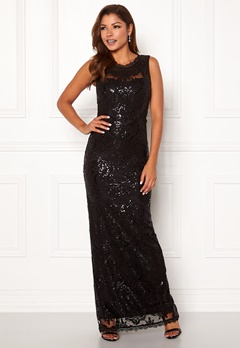 Chiara Forthi Harper gown Black Bubbleroom.no