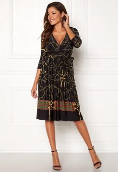 Chiara Forthi Henny wrap dress Black Bubbleroom.no