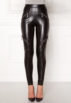 Chiara Forthi Intrend Punk Leggings Black Bubbleroom.no