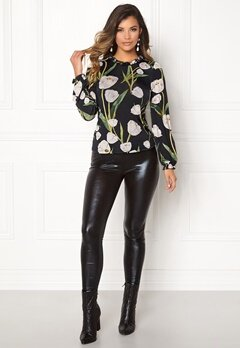 Chiara Forthi Intrend Tulip Top Black / Floral Bubbleroom.no