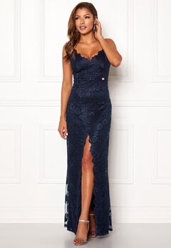 Chiara Forthi Irmeline gown  Dark blue Bubbleroom.no