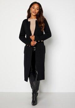 Chiara Forthi Ivy knitted Long Coat Black bubbleroom.no