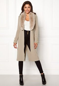 Chiara Forthi Ivy Long Coat Grey-beige Bubbleroom.no
