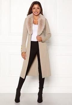 Chiara Forthi Ivy Long Coat Grey-beige Bubbleroom.no