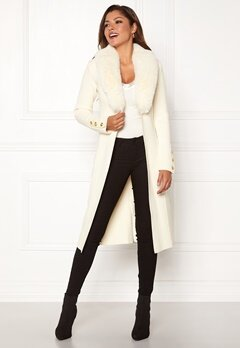 Chiara Forthi Ivy Long Coat Offwhite Bubbleroom.no