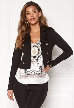 Chiara Forthi Jemma button jersey jacket Black Bubbleroom.no