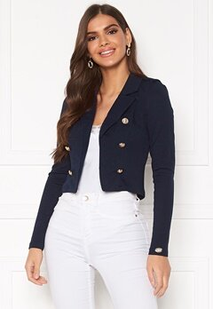 Chiara Forthi Jemma button jersey jacket Navy Bubbleroom.no