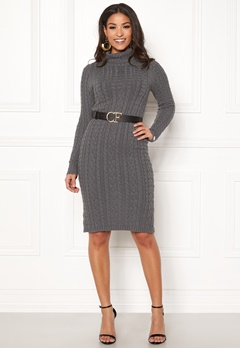 Chiara Forthi Josefina knitted dress Dark grey Bubbleroom.no