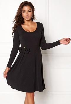 Chiara Forthi Kasia bow midi dress Black Bubbleroom.no