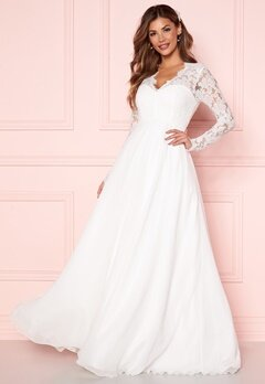 Chiara Forthi Kate lace gown White Bubbleroom.no