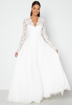 Chiara Forthi Kate lace gown White bubbleroom.no