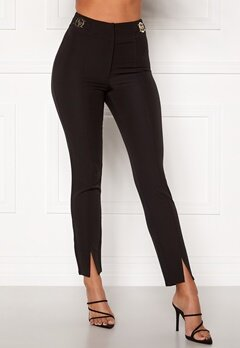 Chiara Forthi Katya buckle pants Black Bubbleroom.no