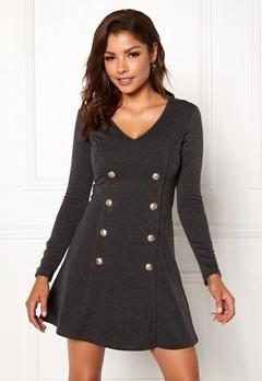 Chiara Forthi Labotinne Dress Dark grey melange Bubbleroom.no