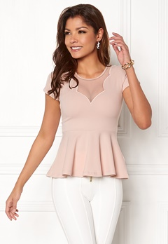 Chiara Forthi Lanetta Peplum Top Dusty pink Bubbleroom.no