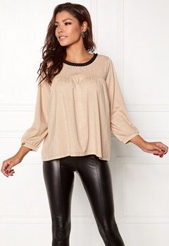Chiara Forthi Laporta Trim Top Beige / Black Bubbleroom.no