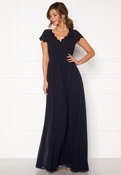 Chiara Forthi Leighann Gown Dark blue Bubbleroom.no