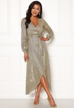 Chiara Forthi Leila sparkling dress Gold Bubbleroom.no