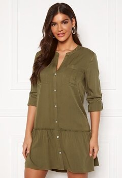 Chiara Forthi Lemonie Shirt Dress Khaki green Bubbleroom.no