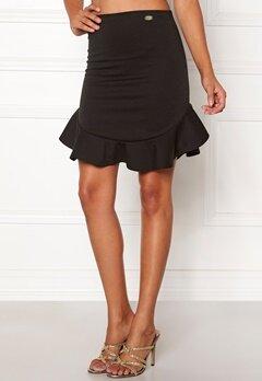 Chiara Forthi Lenu frill skirt  Black Bubbleroom.no