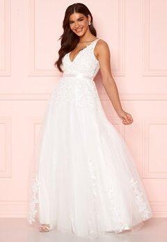 Chiara Forthi Leonore Tulle Gown White Bubbleroom.no