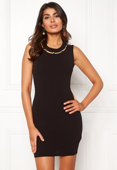 Chiara Forthi Lila pearl neck dress Black Bubbleroom.no